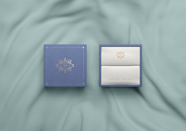 top-view-blue-box-silk-fabric_23-2148272036